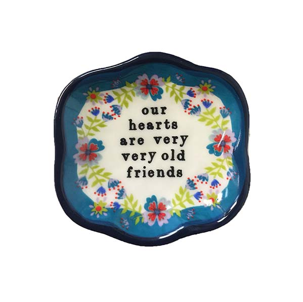 """A photo of the """"Our Hearts"""" Small Artisan Dish product"""