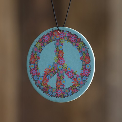A photo of the Peace Car Air Freshener product