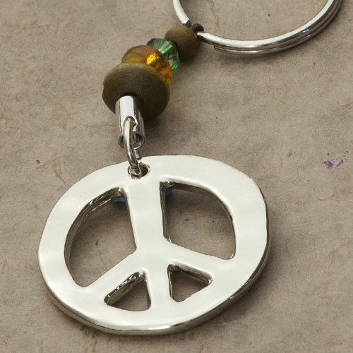 A photo of the Peace Sign Keychain product
