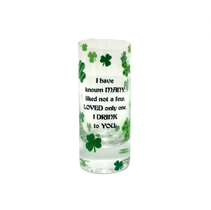 """A photo of the """"I Drink To You"""" Tall Shot Glass product"""