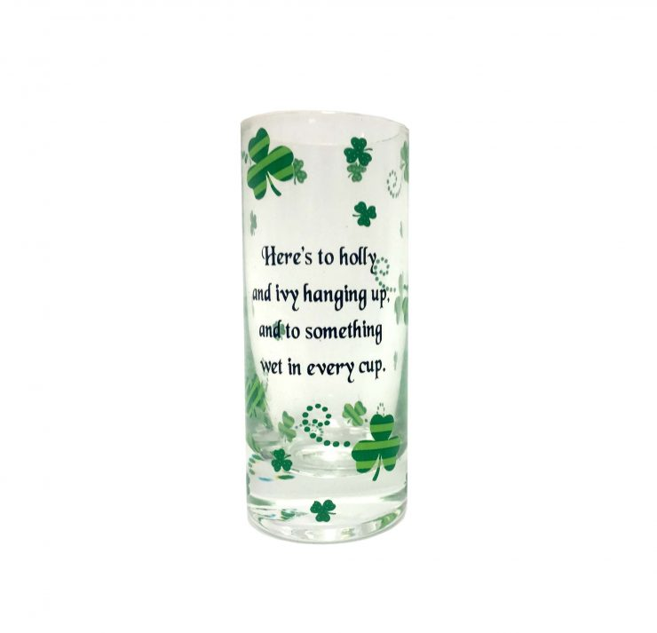 """A photo of the """"Something Wet in Every Glass"""" Tall Shot Glass product"""