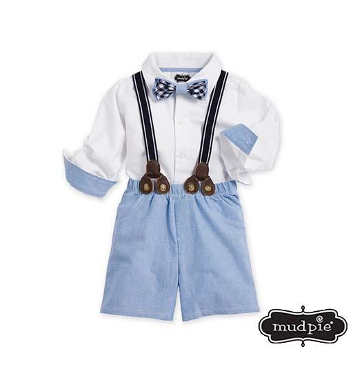 b586ea8c84b1 Mudpie: Chambray 3 Piece Suspender Set - Best of Everything   Online ...