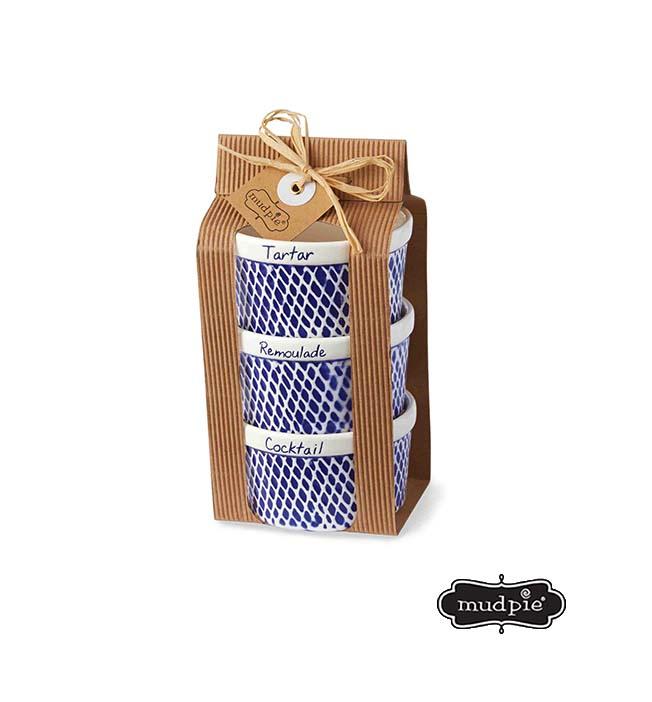 A photo of the Mudpie: Net Fish Ramekin Set product