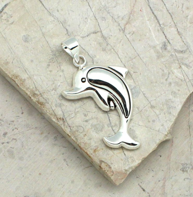 A photo of the Diving Dolphin Pendant product