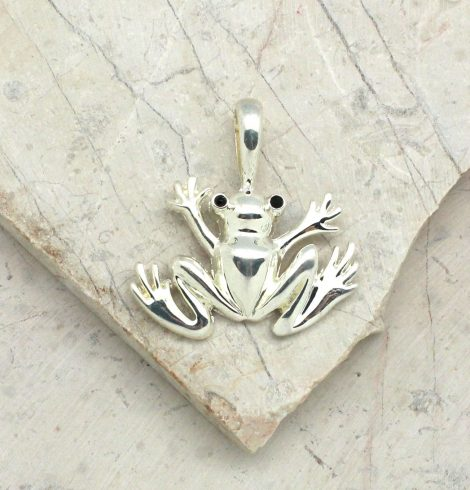 A photo of the Friendly Frog Pendant product