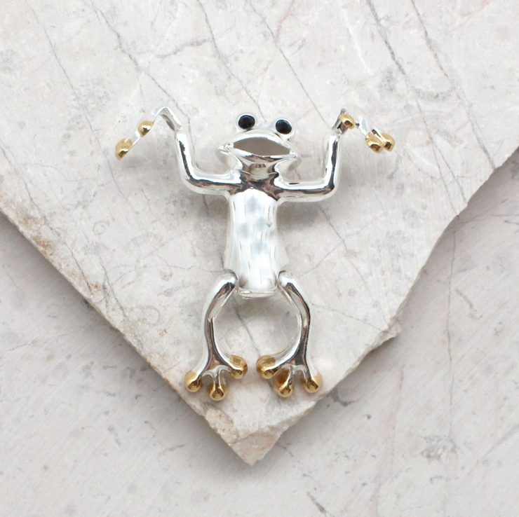A photo of the Leaping Frog Pendant product