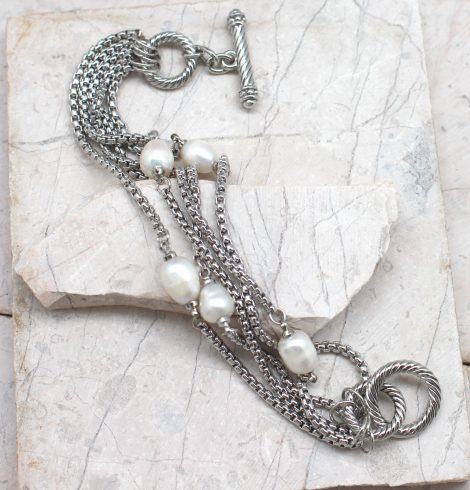 A photo of the Multi Strand Pearl Bracelet product