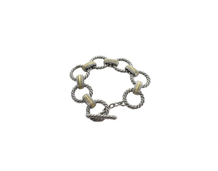 A photo of the Circle Links Bracelet product