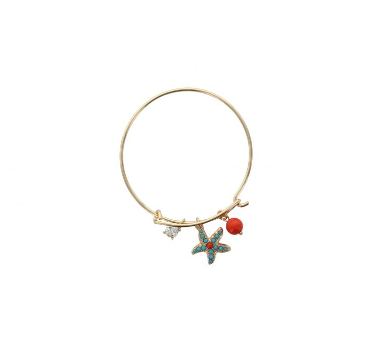 A photo of the Starfish Charm Stackable Bangle product