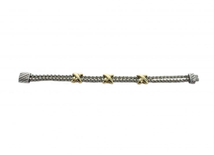 A photo of the Gold X Magnetic Bracelet product