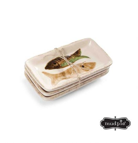 A photo of the Mudpie: Lake Fish Dip Dish Set product