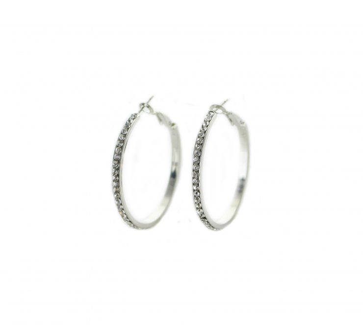 A photo of the Rhinestone Hoops product
