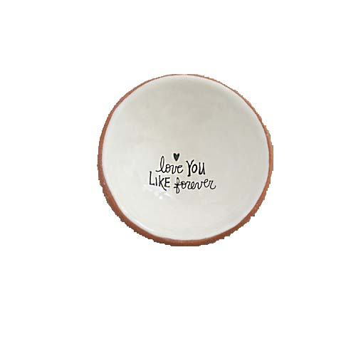 """A photo of the """"Love You Like Forever"""" Small Trinket Dish product"""