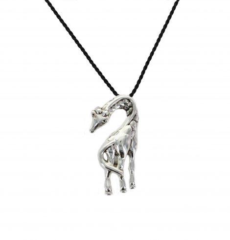 Silver Giraffe Pendant