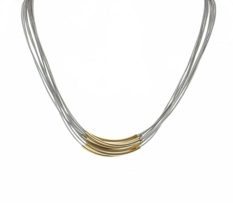A photo of the Metallic Multi Strand Necklace product