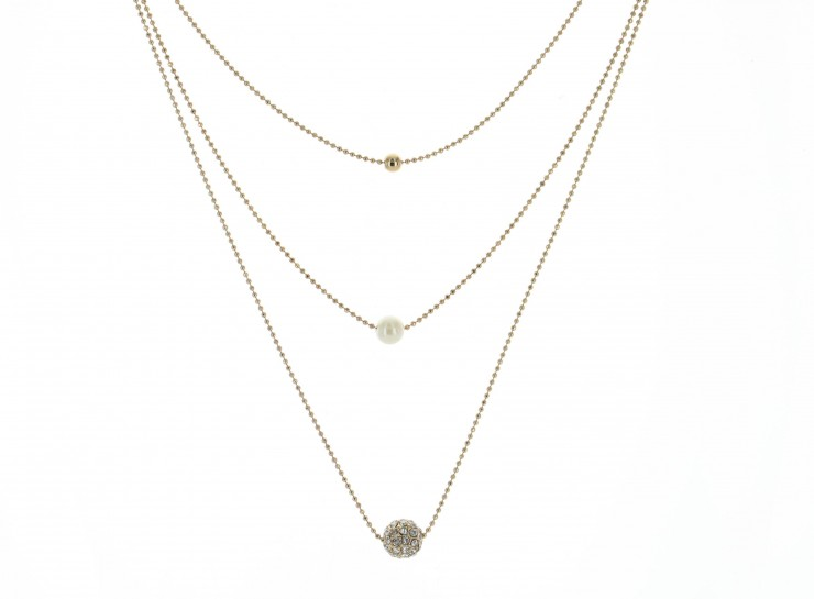 silver rhinestone stackable lyst embellished in jewelry forever normal necklace metallic product gunmetalclear