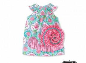 Smocked Snail Dress Cover