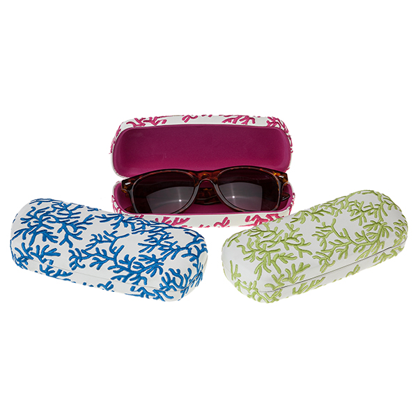 A photo of the Coral Eyeglass Case product