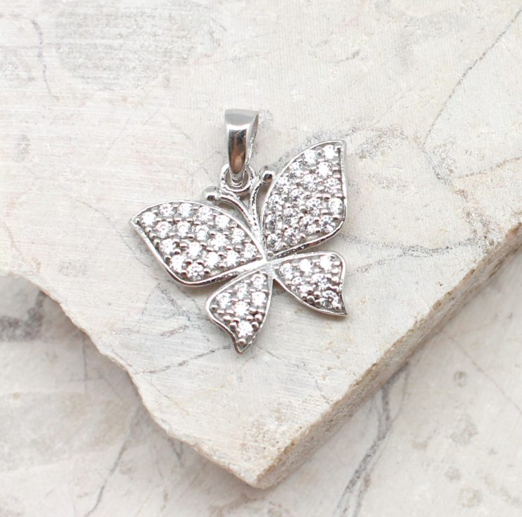 A photo of the The Sparkle Butterfly Pendant product