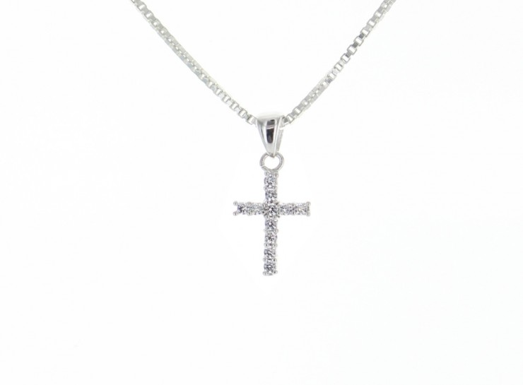 Mini sterling silver cz cross pendant best of everything online mini sterling silver cz cross pendant best of everything online shopping mozeypictures Choice Image