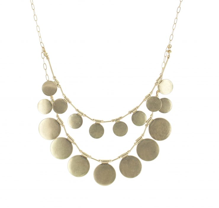 A photo of the Layered Full Moon Necklace product