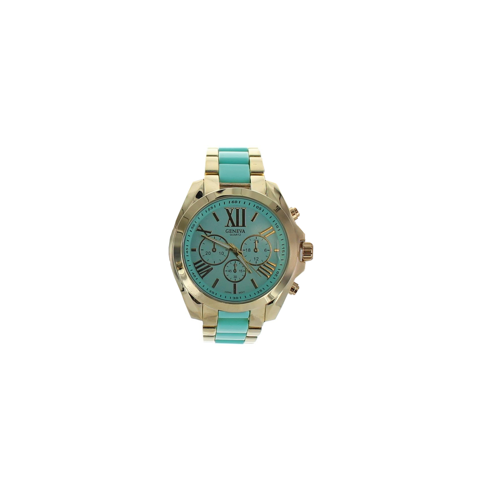 Large Face Summer Color Link Watch