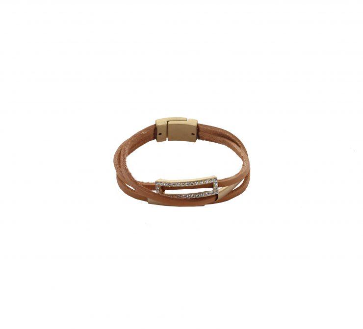A photo of the Rhinestone Rectangle Bracelet product