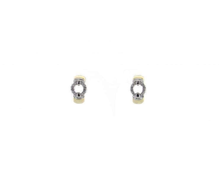 A photo of the Two Tone Rhinestone Earrings product