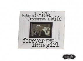 Today A Bride Wood Frame