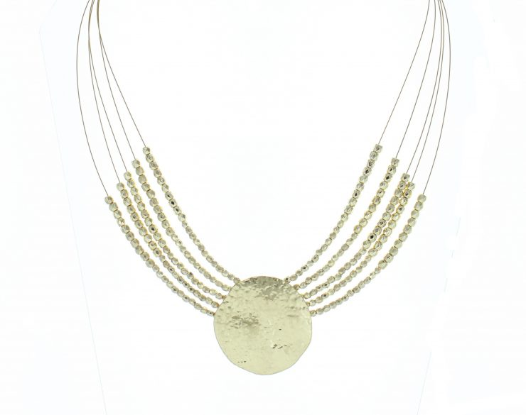 A photo of the Gold Multi Wire Coin Necklace product
