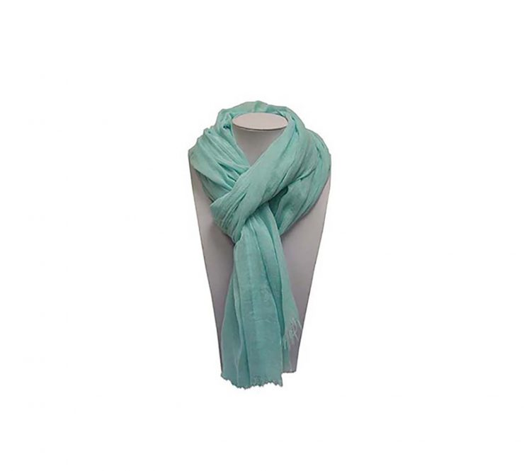 A photo of the Mint Fringed Scarf product