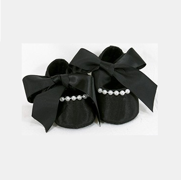 A photo of the Stephan Baby: Pearl & Ribbon Tie Shoes product