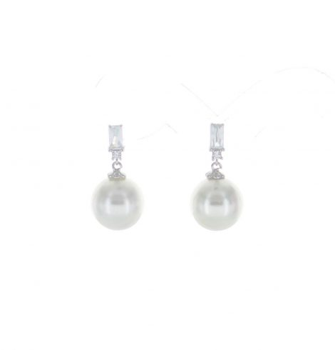 A photo of the CZ & Pearl Earrings product