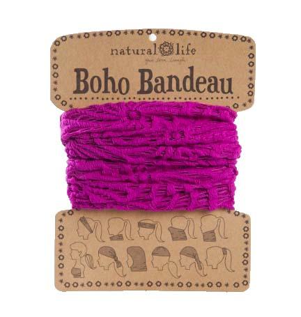 A photo of the Fuchsia Crochet Boho Bandeau product