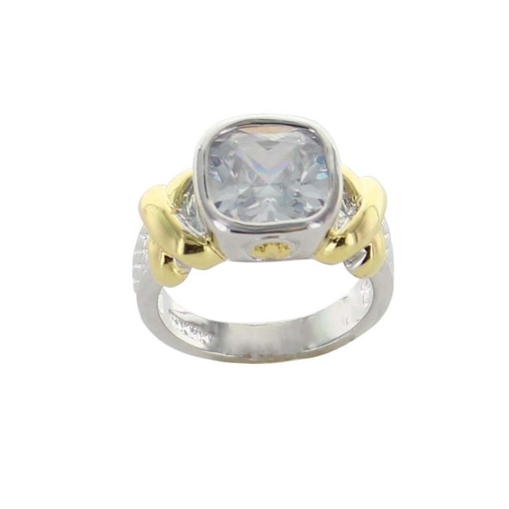 A photo of the Small Black Gemstone Ring product