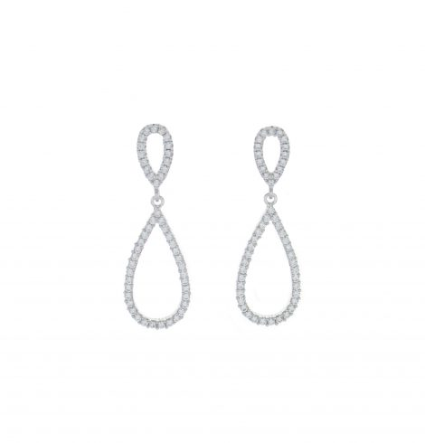 A photo of the Pave Sterling Silver Fancy Earrings product