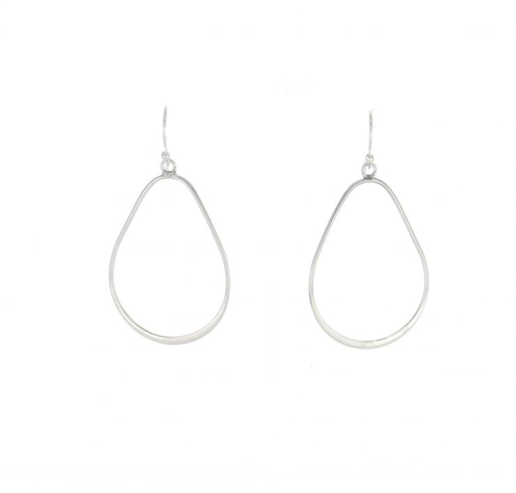 A photo of the Pear Shape Sterling Silver Dangle Earrings product