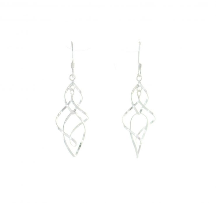 A photo of the Long Wind Chime Earrings product