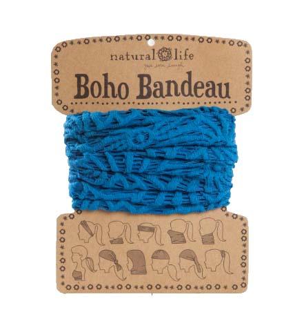 A photo of the Turquoise Crochet Boho Bandeau product