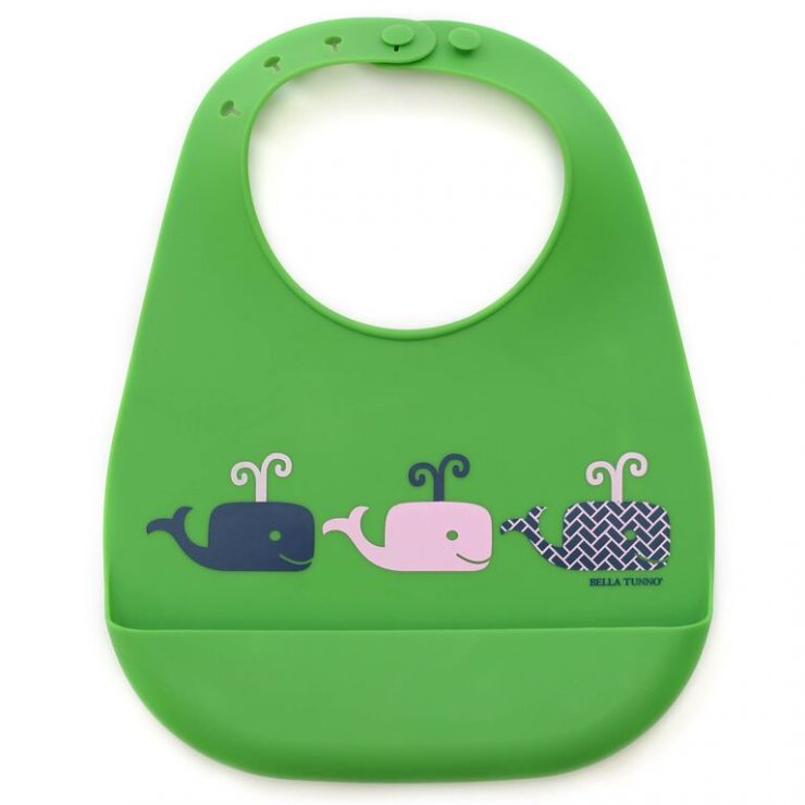 A photo of the Bella Tunno: Whales Wonder Bib product