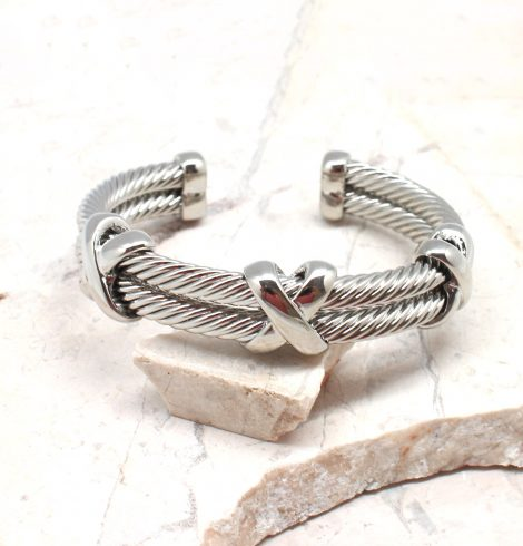 A photo of the Silver X Cuff Bracelet product