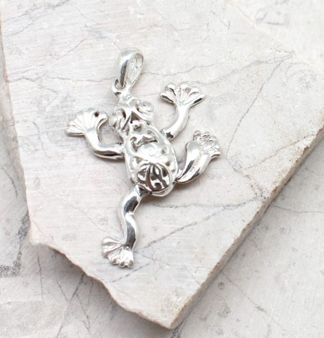 A photo of the The Dancing Frog Pendant product