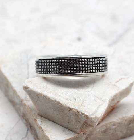 A photo of the The Men's Checkered Ring product