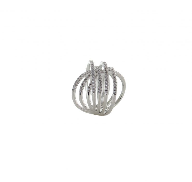 A photo of the Classic Wire Stone Cuff Bracelet product