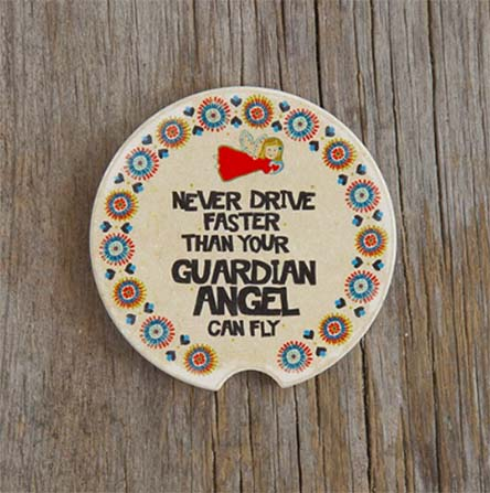 A photo of the Guardian Angel Car Coaster product