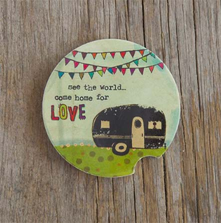A photo of the Home for Love Car Coaster product
