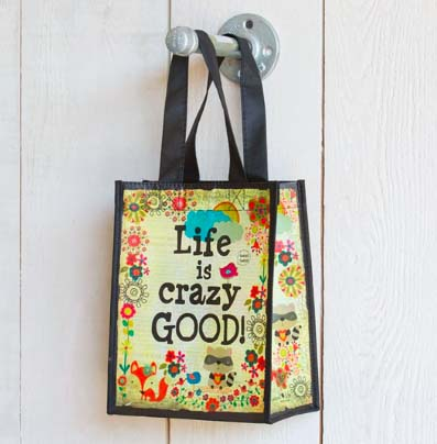 A photo of the Life is Crazy Good Reusable Gift Bag product