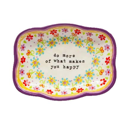 A photo of the Makes You Happy Large Trinket Dish product