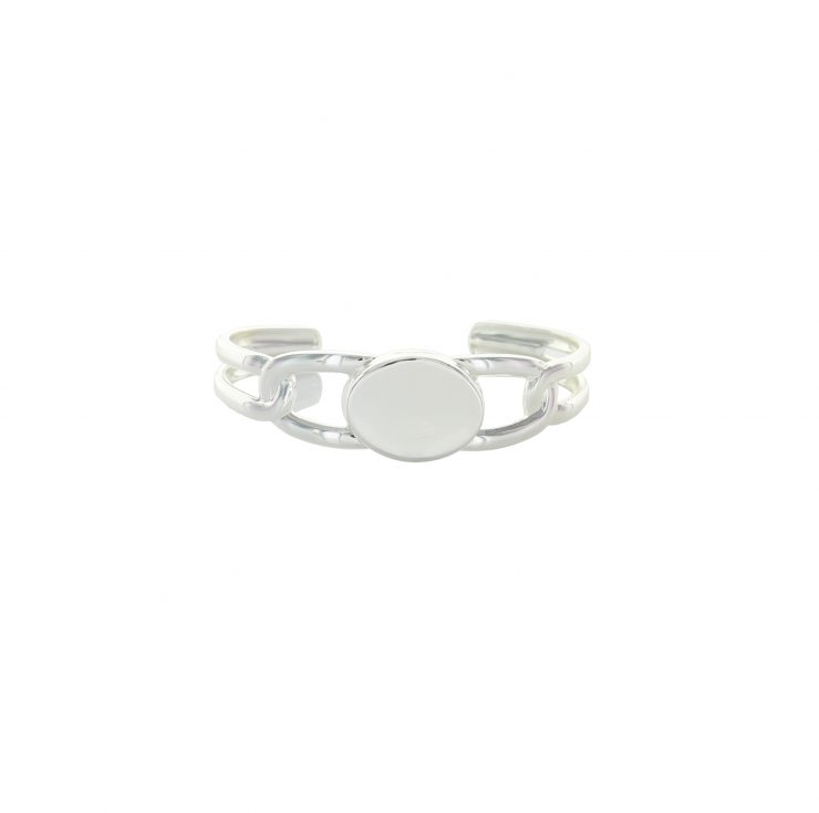 A photo of the Silver Oval Coin Cuff product