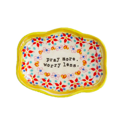 A photo of the Pray More Small Trinket Dish product
